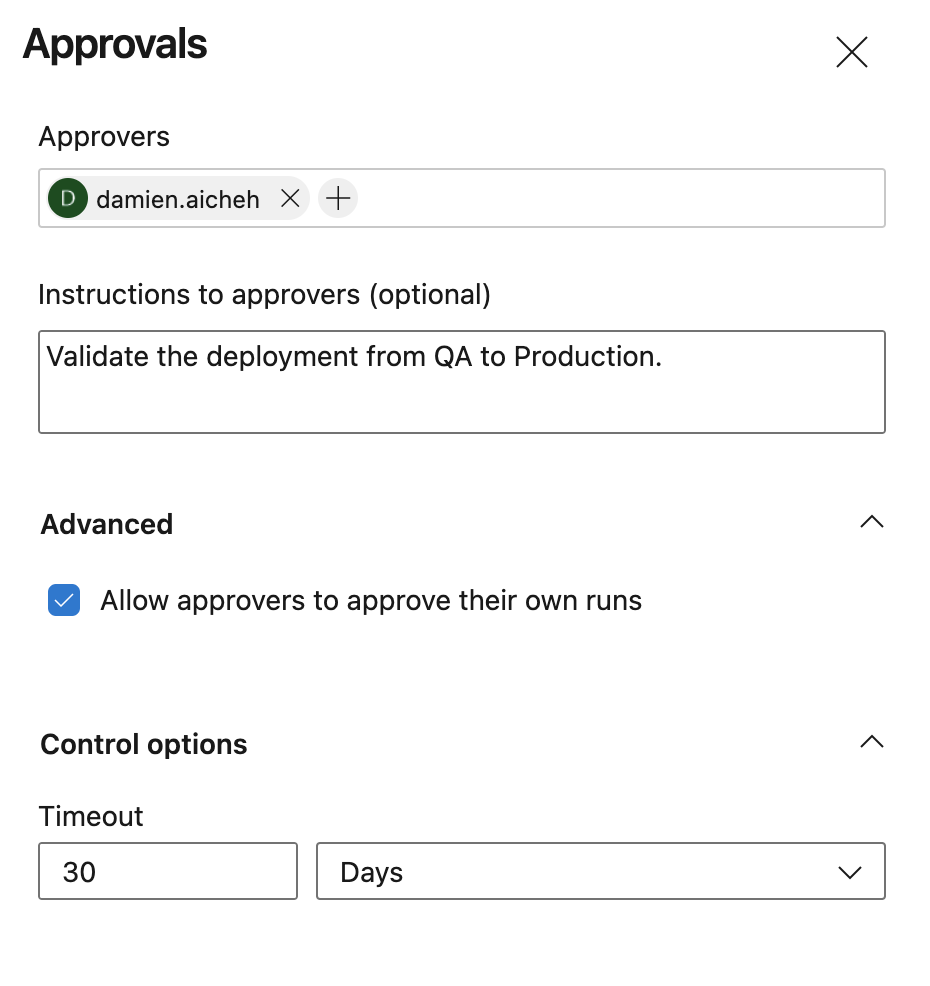 Approvals example